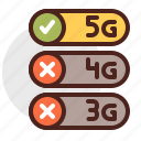 device, electronic, options, signal, technology icon