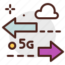 device, electronic, internet, signal, speed, technology icon