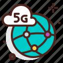 device, electronic, internet, signal, technology, world icon