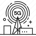 5g, antenna, cell, internet, tower