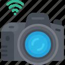smart, camera, tech, iot, dslr, wifi icon
