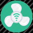 smart, fan, tech, iot, appliance, wireless icon