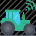 smart, farming, tech, iot, tractor, vehicle icon