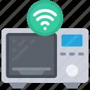 smart, microwave, tech, iot, appliance, wireless icon