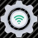 smart, settings, tech, iot, cog, gear, wireless icon