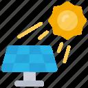 solar, power, tech, iot, sun, panel icon