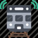 train, tech, iot, railway icon