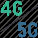vs, tech, wireless, connection, data icon