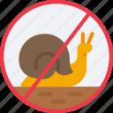 no, snail, speeds, slow, prohibited icon