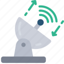 powerful, satellite, dish, signal, wifi, connection icon