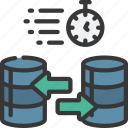 fast, data, transfer, database, databases, speed icon