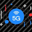 5g, fast, high, speed, telecommunication icon