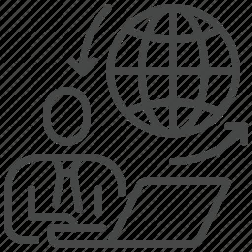 Globe, home, online, remote, work, workplace icon - Download on Iconfinder