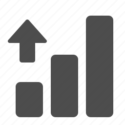 arrow, chart, graph, up icon