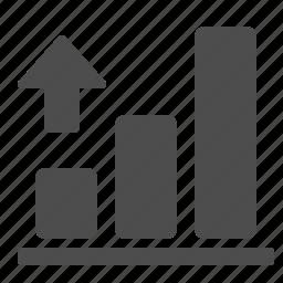 arrow, business, chart, diagram, finance, graph, profit, up icon
