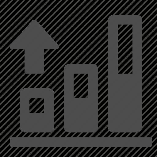 arrow, chart, diagram, graph, profit, report, up icon