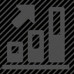 arrow, business, chart, diagram, finance, graph, internet, profit, up icon
