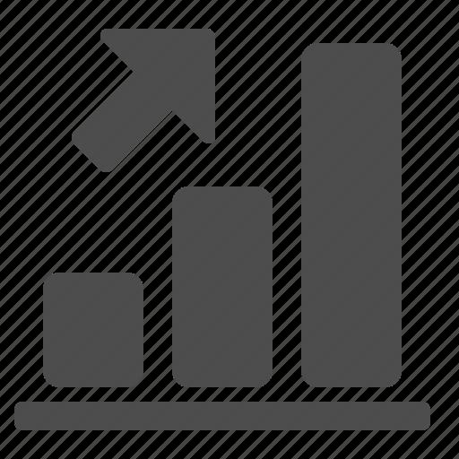 arrow, business, chart, charts, diagram, diagrams, finance, graph, graphs, internet, profit, report, up, web icon