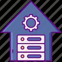 data, gear, server, warehouse