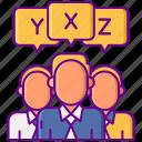 groups, heterogeneous, people, variable icon