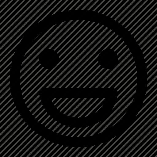 big smile, chat, emoji, emoticon, face, happy, smiley icon