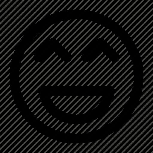 emoji, emoticon, face, laugh, laughing, lol, reaction icon