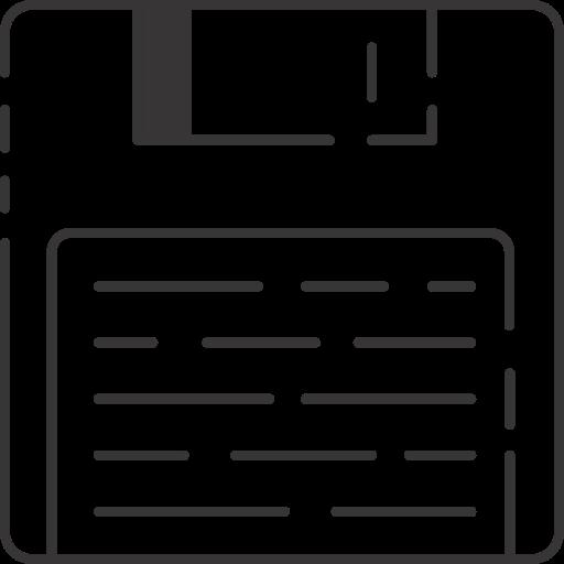 diskette, floppy disk icon
