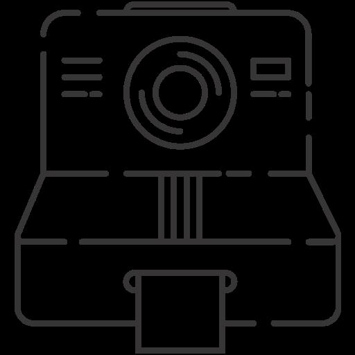 camera, polaroid, retro, vintage icon