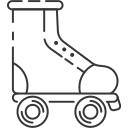 inline skate, roller skate, skating shoe icon