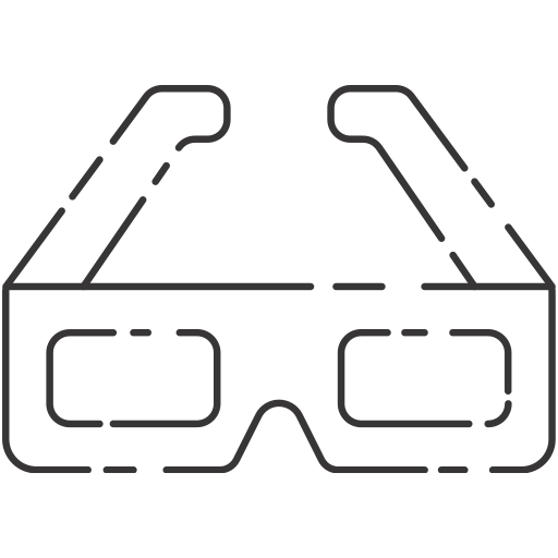 3 dimension, glasses, vintage icon