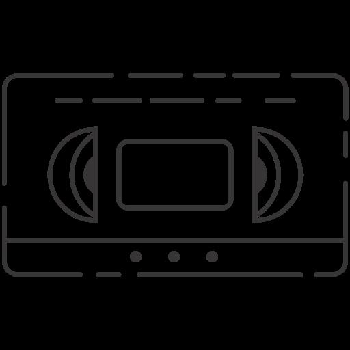 beta max, vhs, video cassette icon