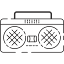 boombox, music, stereo, tape player icon