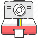 camera, photography, polaroid, retro, vintage icon