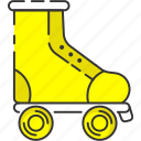 inline skate, retro, roller skate, skating, vintage icon