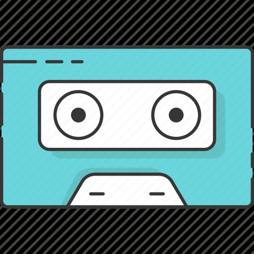 audio cassette, cassette tape, music, retro, vintage icon