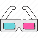 80's, glasses, retro, vintage icon