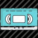 betamax, cassette, movie, vhs, video, vintage icon