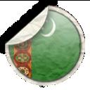turkmen flag, turkmenistan icon