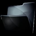 folder, grey, black