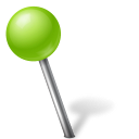 ball, chartreuse, left, mapmarker