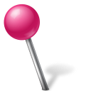 ball, left, mapmarker, pink icon