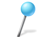 azure, ball, mapmarker, right