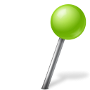 ball, chartreuse, mapmarker, right icon