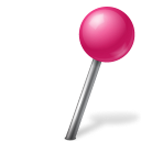 ball, mapmarker, pink, right icon