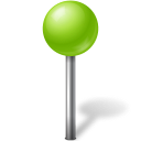 ball, chartreuse, mapmarker icon