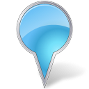azure, bubble, mapmarker icon