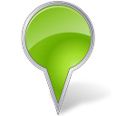 bubble, chartreuse, mapmarker icon