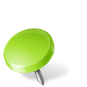 chartreuse, drawingpin, left, mapmarker icon