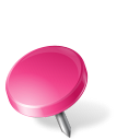 drawingpin, left, mapmarker, pink icon