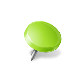 chartreuse, drawingpin, mapmarker, right